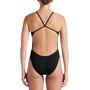Nike Swim Hydrastrong Solids Cut Out One Piece Badeanzug Damen schwarz
