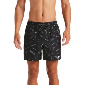 "Nike Swim Logofetti Breaker 5"" Volley Shorts Herren black black"