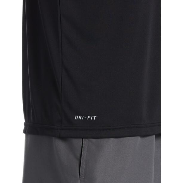 Nike Swim JDI Fade Short Sleeve Hydroguard Shirt Men, black