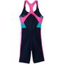 Nike Swim Color Surge Combinaison dos nageur Fille, bleu/Multicolore