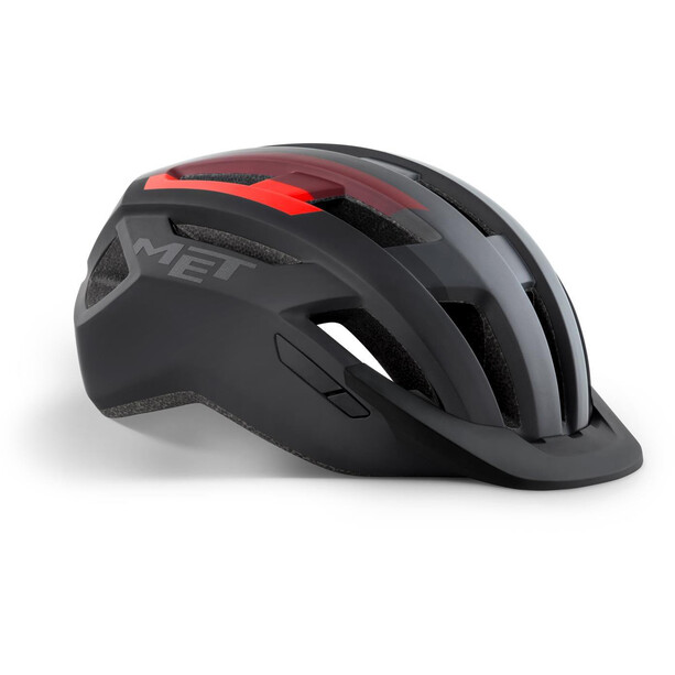MET Allroad Helmet black/red matte