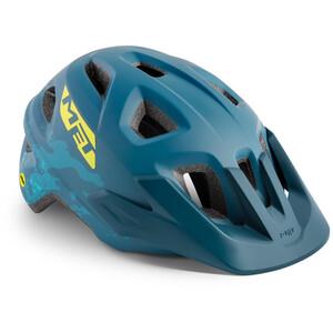 MET Eldar MIPS ヘルメット キッズ ぺトロール ブルー カモ