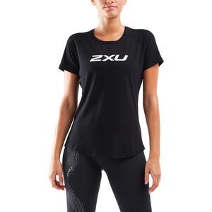 2XU Contender Kurzarmshirt Damen black/geo lines black/geo lines
