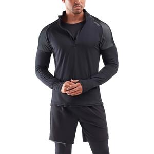 2XU GHST 1/2 Zip Langarmshirt Herren black/white black/white