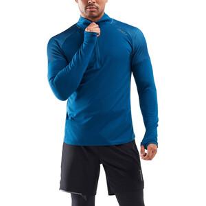 2XU GHST 1/2 Zip LS Shirt Men poseidon/ultra aqua poseidon/ultra aqua