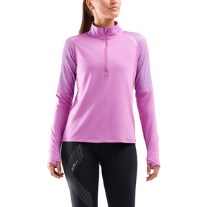 2XU GHST 1/2 Zip Langarmshirt Damen ultra/white ultra/white