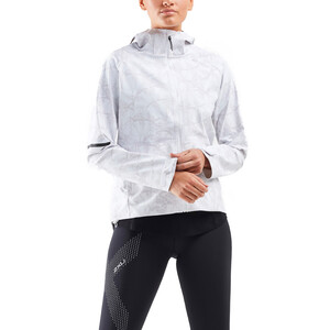2XU GHST WP Jacke Damen butterfly effect white/white butterfly effect white/white