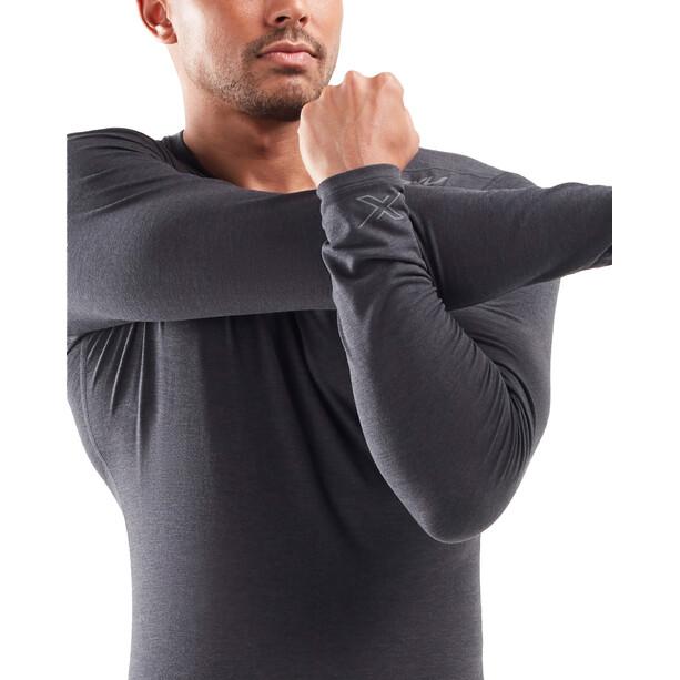 2XU Heat Base Layer Langarmshirt Herren black marle/silver reflective