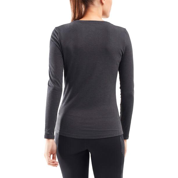 2XU Heat Base Layer Langarmshirt Damen black marle/silver reflective