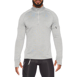 2XU Pursuit Thermal 1/4 Zip Langarmshirt Herren grey marle/silver reflective grey marle/silver reflective