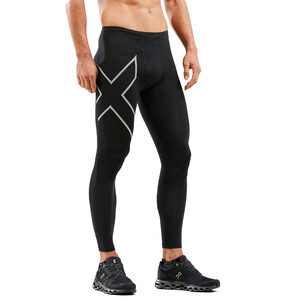 2XU Run Dash Compression Tights Men, black/silver reflective black/silver reflective