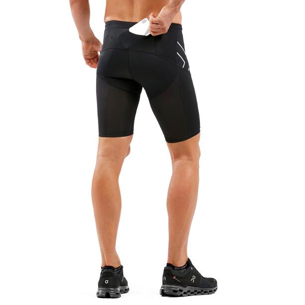 2XU Run Dash Compression Shorts Herren black/silver reflective