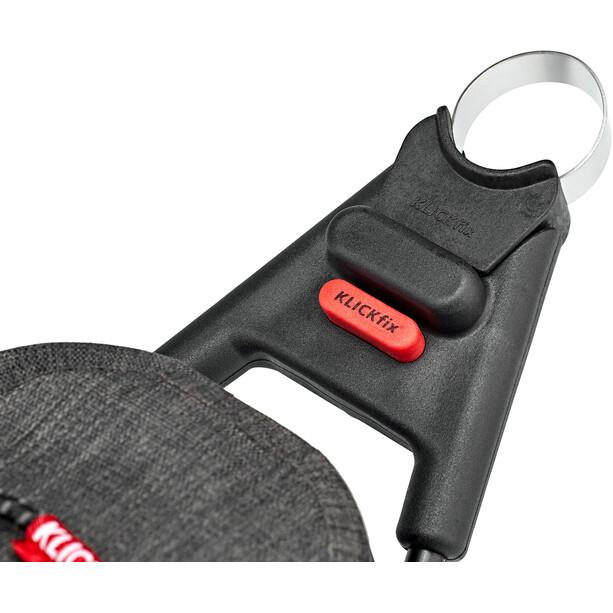 KlickFix Contour Waterproof Saddle Bag, harmaa