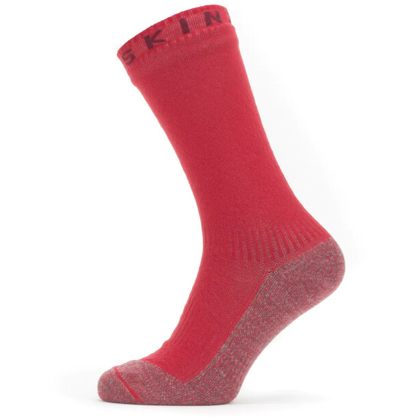 Sealskinz Waterproof Warm Weather Soft Touch Mid Socks red/red marl