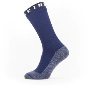 Sealskinz Waterproof Warm Weather Soft Touch Mid Socks navy blue/blue marl/yellow navy blue/blue marl/yellow