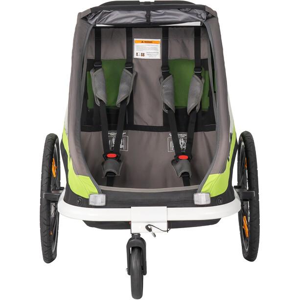 Hamax Traveller Fahrradanhänger inkl. Fahrraddeichsel und Buggyrad grün