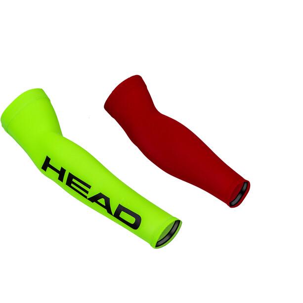 Head Neon Lycra Sleeves rot/gelb