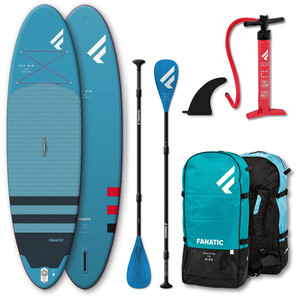 """Fanatic Fly Air Premium/Pure SUP Package 10'8"""" Inflatable SUP with Paddle and Pump"""