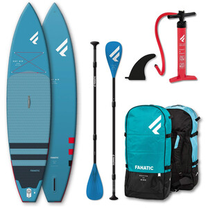 """Fanatic Ray Air Premium/Pure SUP Package 13'6"""" Inflatable SUP with Paddle and Pump"""