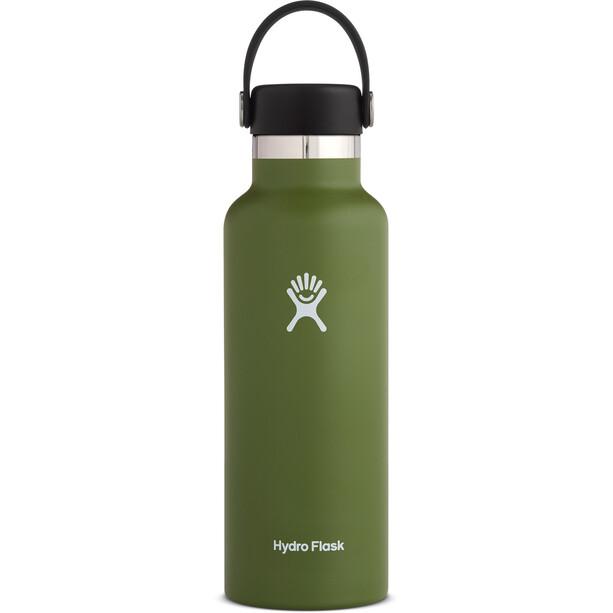 Hydro Flask Standard Mouth Gourde avec Bouchon Flex standard 532ml, olive
