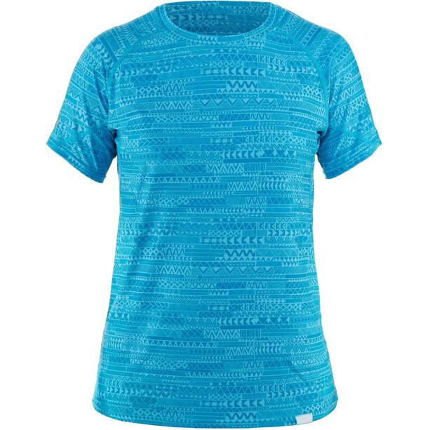 NRS H2Core Silkweight Kurzarm Shirt Damen cyan