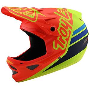Troy Lee Designs D3 Fiberlite Helm silhouette orange/yellow silhouette orange/yellow