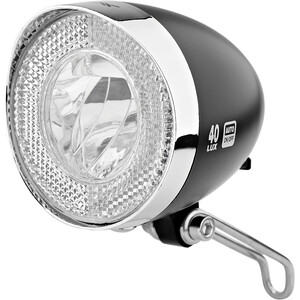 XLC LED Retro Frontlicht inkl. Reflektor schwarz/silber schwarz/silber