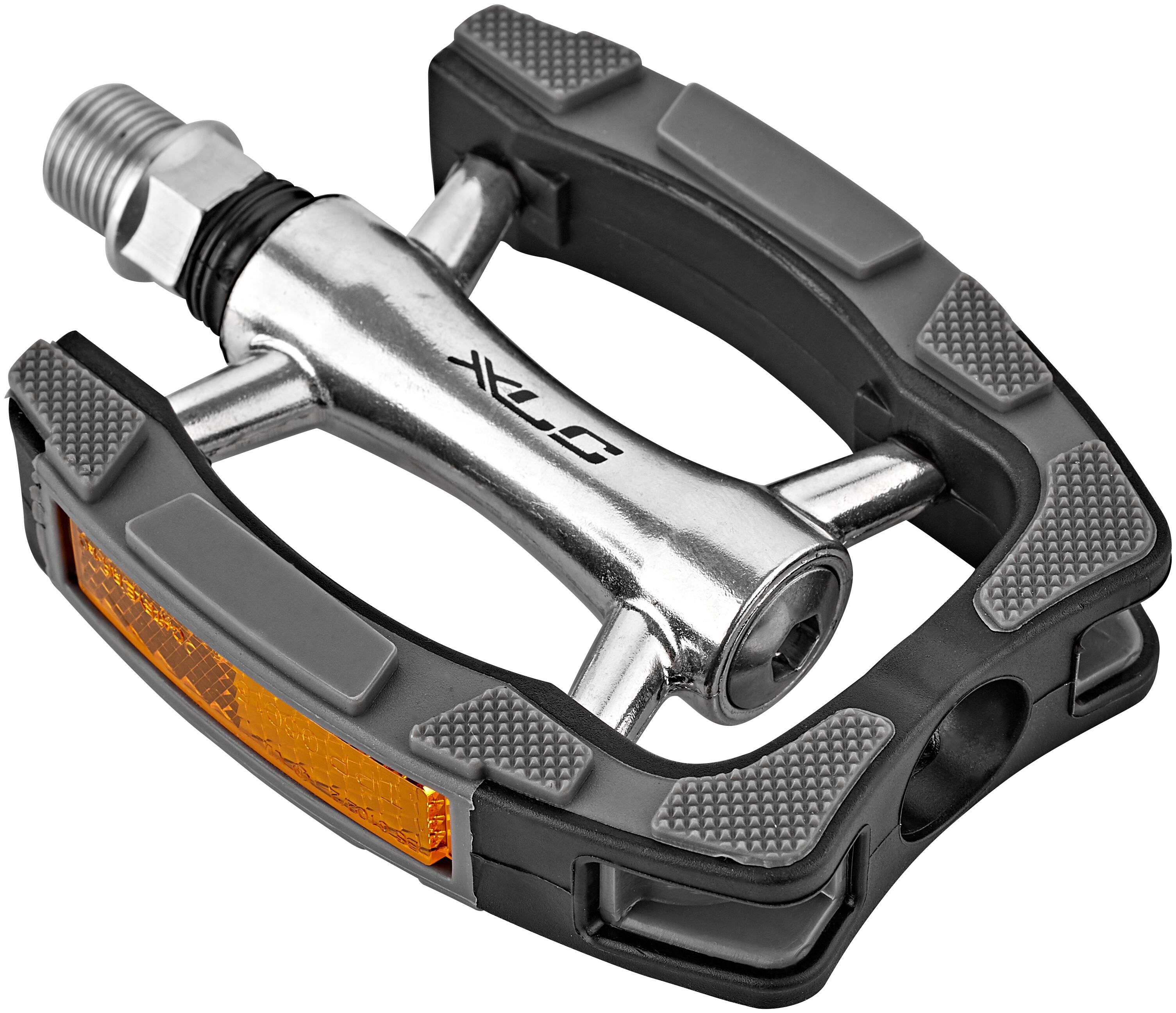 XLC Fahrrad Pedal Fahrradpedal Pedale City Comfort PD-C14 Alu schw silbergrau