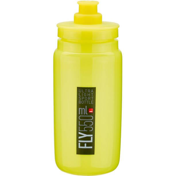 Elite Fly Trinkflasche 550ml yellow/black logo
