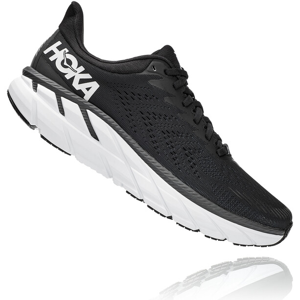 Hoka One One Clifton 7 Wide Running Shoes Men, musta