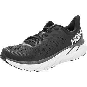 Hoka One One Clifton 7 Wide Laufschuhe Damen black/white black/white