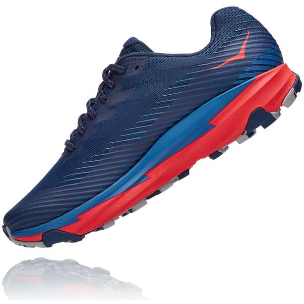 Hoka One One Torrent 2 Chaussures de trail Homme, bleu/rouge