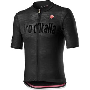 Castelli Giro d'Italia Heritage Maglia Nera Kortærmet cykeltrøje Herrer, sort sort