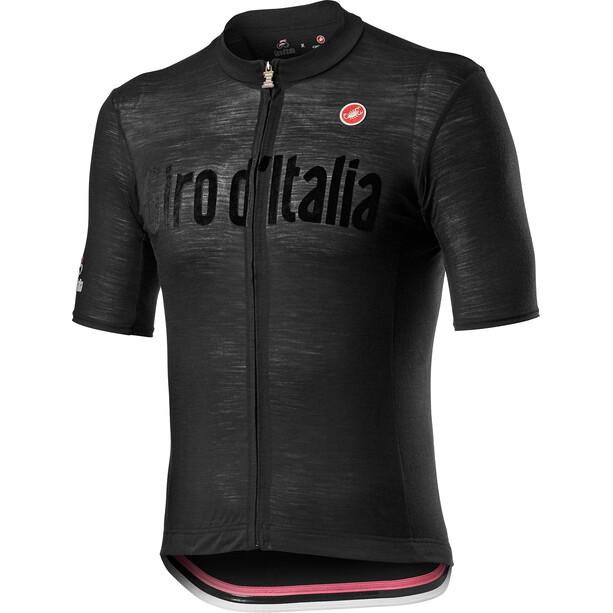 Castelli Giro d'Italia Heritage Maglia Nera Kortærmet cykeltrøje Herrer, sort
