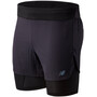"New Balance Q Speed 5"" Shorts Herren black"