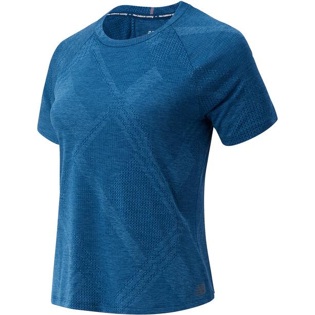 New Balance Q Speed Fuel Jacquard SS Shirt Women blå