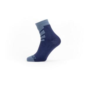 Sealskinz Waterproof Warm Weather Ankle Length Socks with Hydrostop blå blå