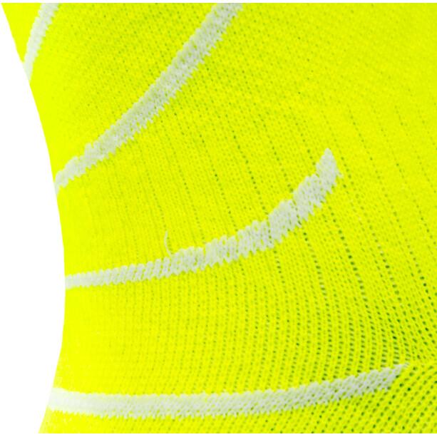Sealskinz Waterproof Warm Weather Mid Length Socks with Hydrostop neon yellow/black/white