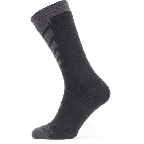 Sealskinz Waterproof Warm Weather Mittelhohe Socken schwarz/grau