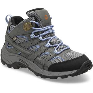 Merrell Moab 2 Mid Waterproof Chaussures Enfant, grey/periwinkle grey/periwinkle