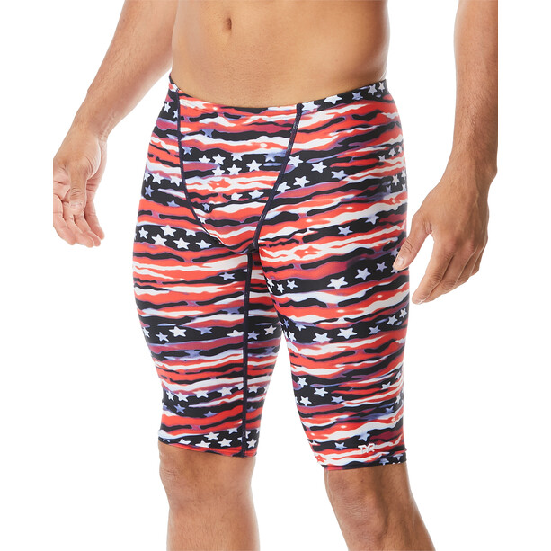 TYR All American Caleçon de bain Homme, red/white/blue