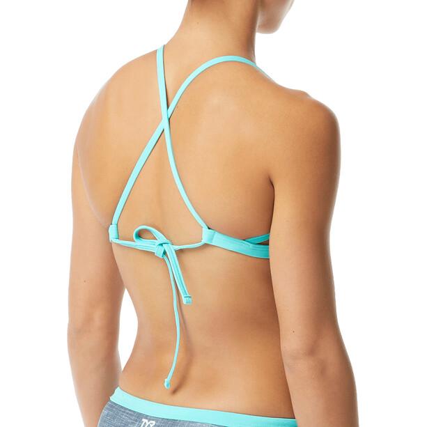 TYR Sandblasted Mojave Tieback Bikini Top Dam grå