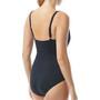 TYR Solids V-Neck Zip Controlfit Swimsuit Women svart