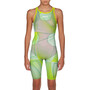 arena R-EVO ONE Full Body Short Leg Open Back Anzug LTD Edition 2019 Mädchen green glass