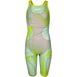 arena R-EVO ONE Full Body Short Leg Open Back Anzug LTD Edition 2019 Mädchen green glass green glass