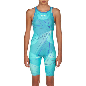 arena R-EVO ONE Full Body Short Leg Open Back Anzug LTD Edition 2019 Mädchen blue glass blue glass