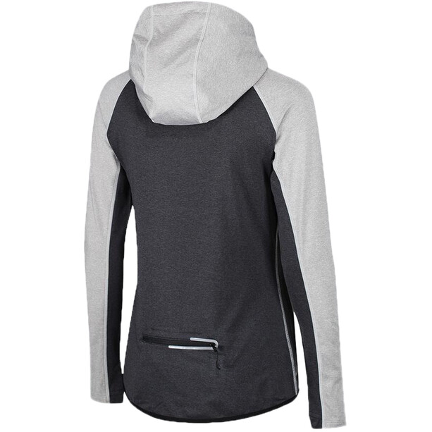 Zone3 Performance Culture Veste à capuche zippée Femme, marl grey/charcoal/electric coral