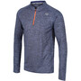 Zone3 Soft-Touch Technical Long Sleeve T-Shirt Men, harmaa/oranssi