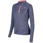 Zone3 Soft-Touch Technical Langarm T-Shirt Damen petrol blue/neon coral