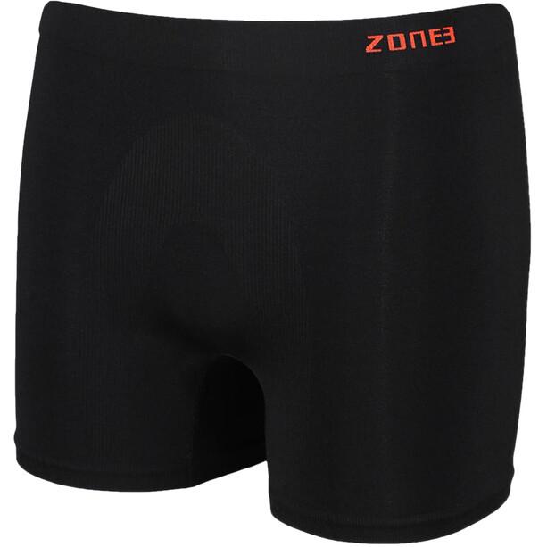 Zone3 Seamless Support Boxershorts Herren black/orange